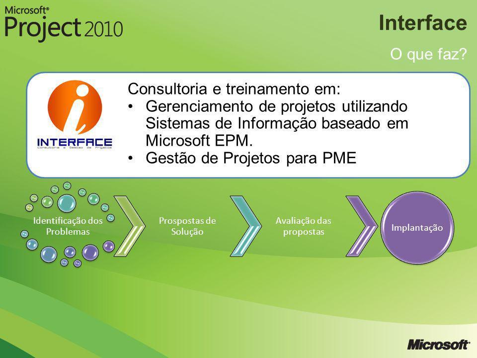 Interface O que faz Consultoria e treinamento em:
