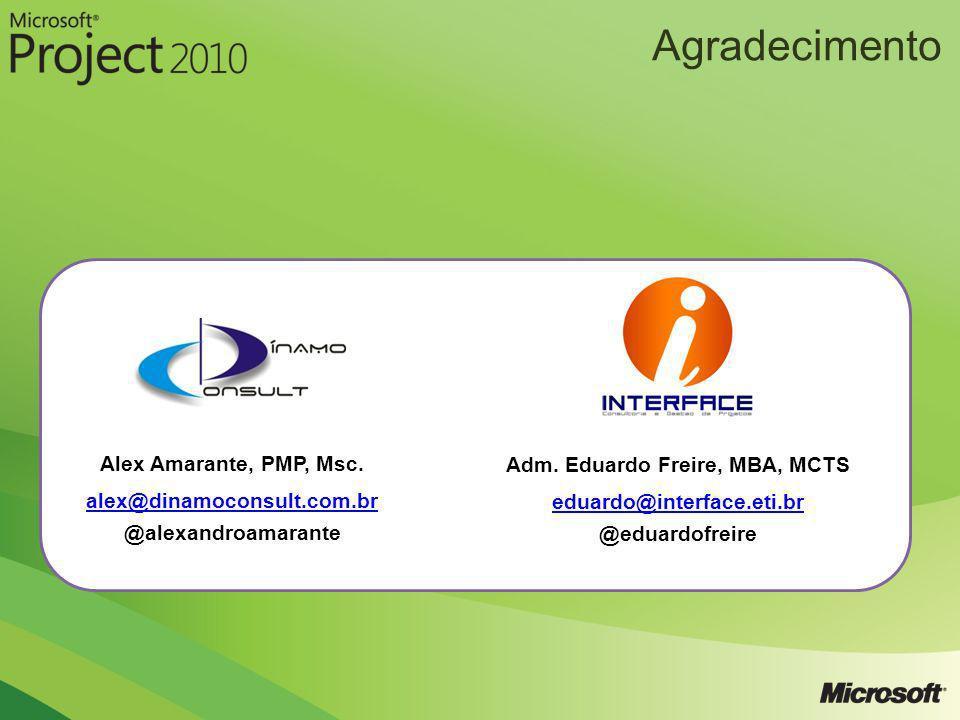 Alex Amarante, PMP, Msc. alex@dinamoconsult.com.br @alexandroamarante