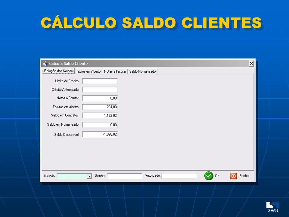 CÁLCULO SALDO CLIENTES