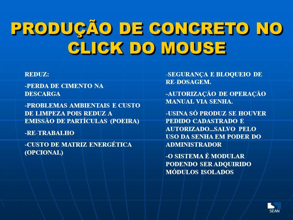 PRODUÇÃO DE CONCRETO NO CLICK DO MOUSE