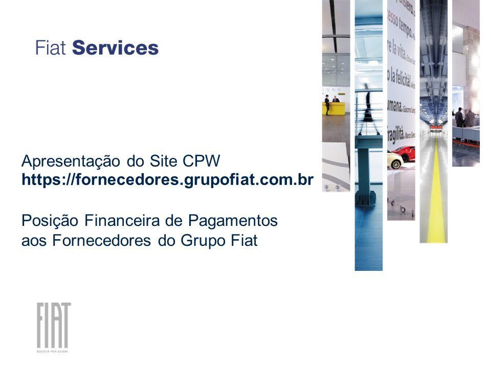 Posição Financeira de Pagamentos aos Fornecedores do Grupo Fiat