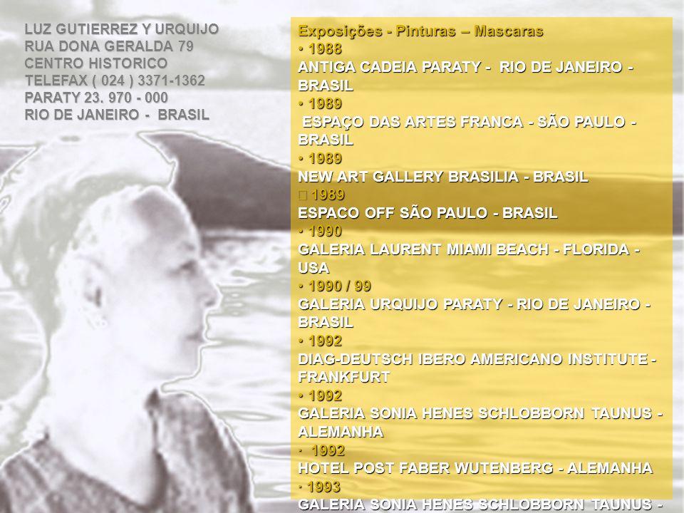 Exposições - Pinturas – Mascaras 1988