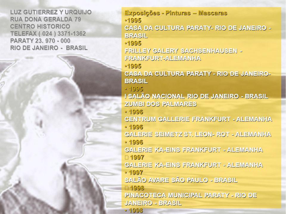 Exposições - Pinturas – Mascaras 1995