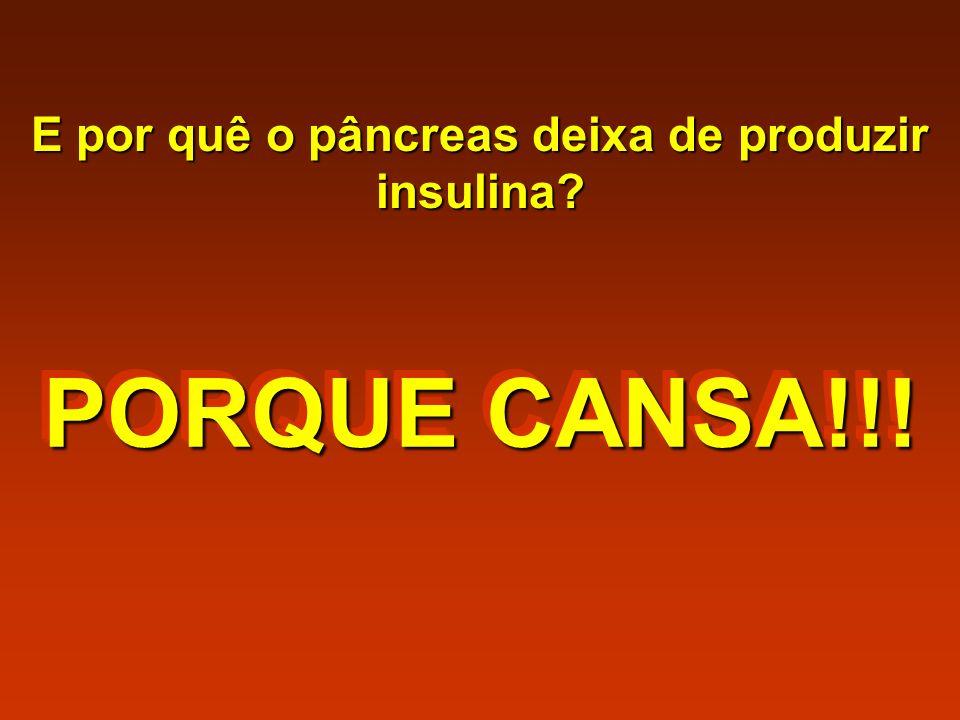 E por quê o pâncreas deixa de produzir insulina