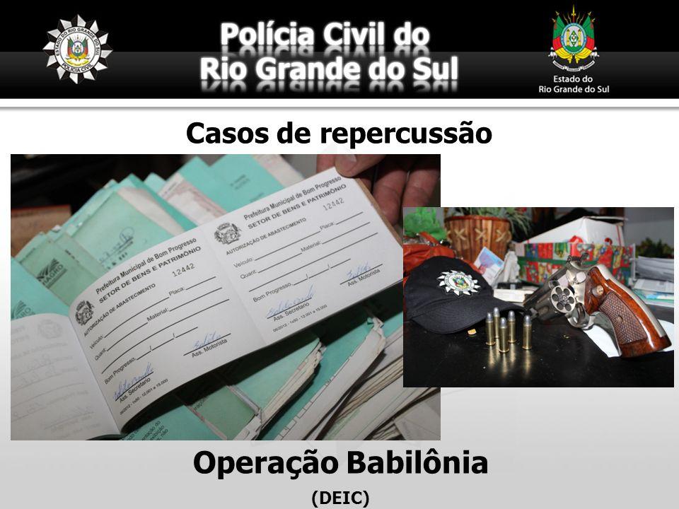 Casos de repercussão Operação Babilônia (DEIC)