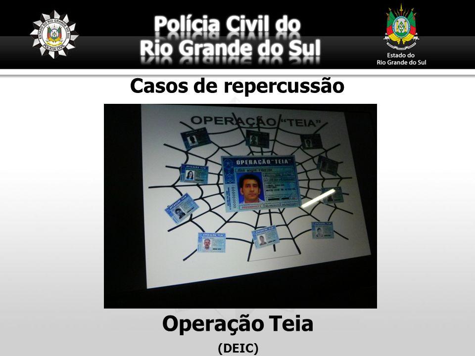 Casos de repercussão Operação Teia (DEIC)