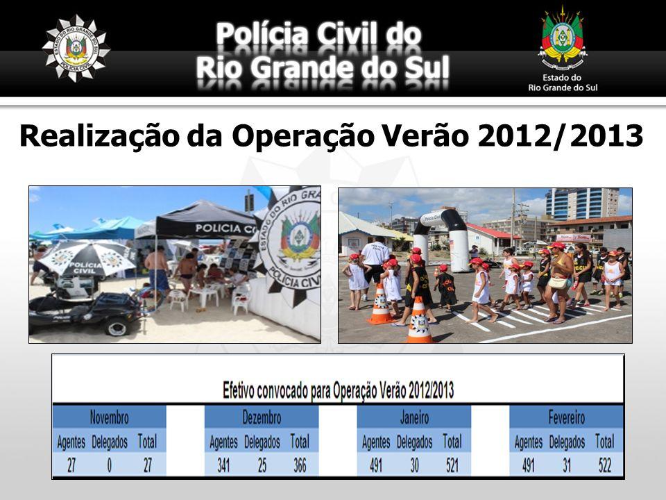 Realização da Operação Verão 2012/2013