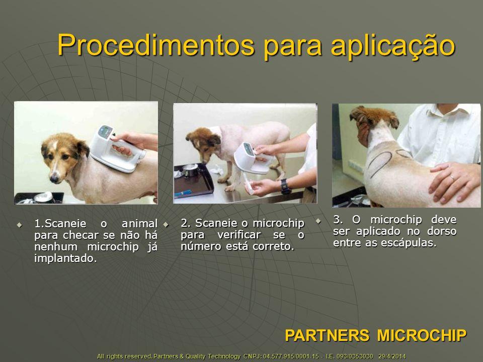 Procedimentos para aplicação