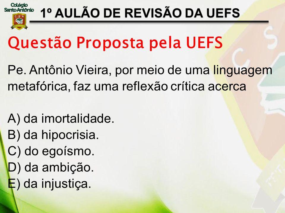 Questão Proposta pela UEFS