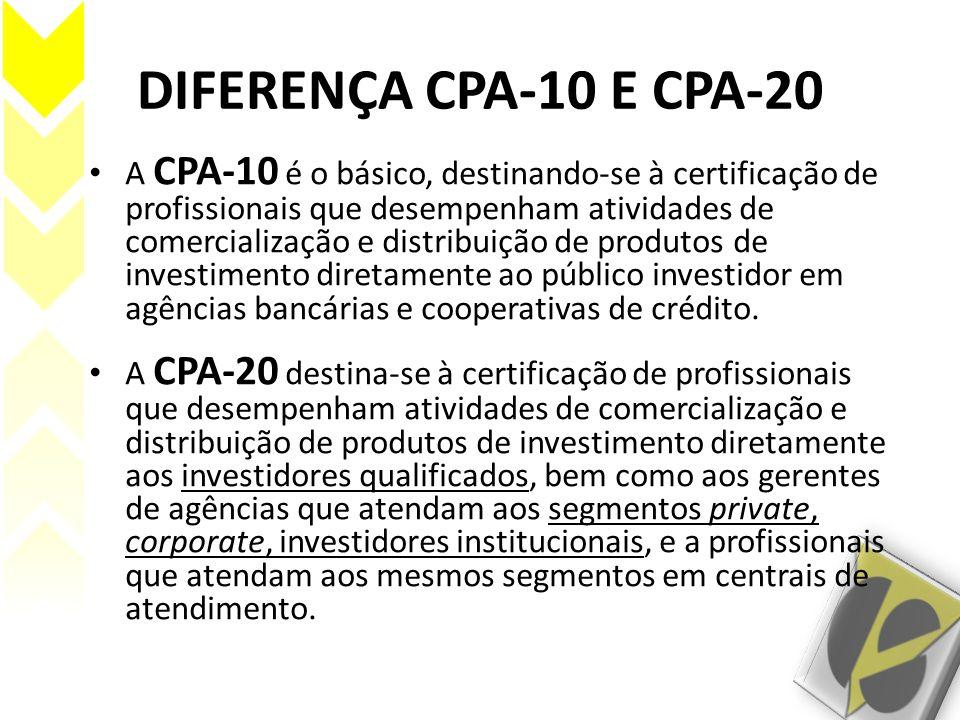 DIFERENÇA CPA-10 E CPA-20