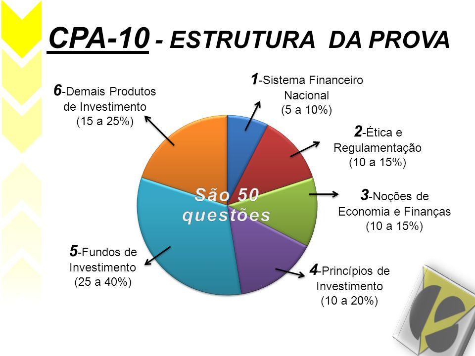 CPA-10 - ESTRUTURA DA PROVA