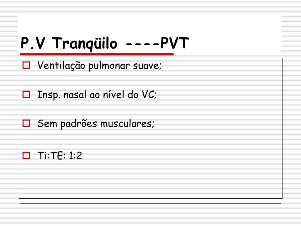 P.V Tranqüilo ----PVT Ventilação pulmonar suave;