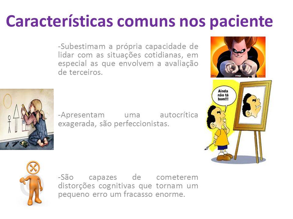 Características comuns nos paciente