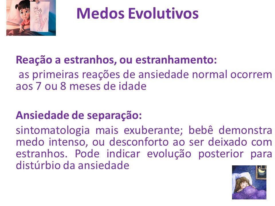 Medos Evolutivos Reação a estranhos, ou estranhamento: