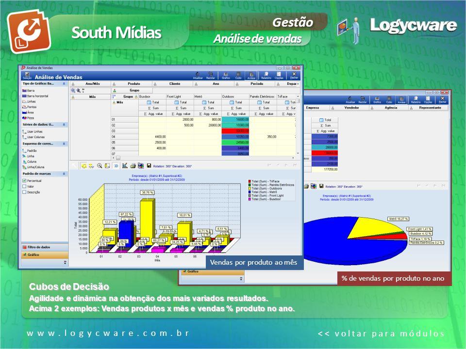South Mídias Gestão Análise de vendas Cubos de Decisão