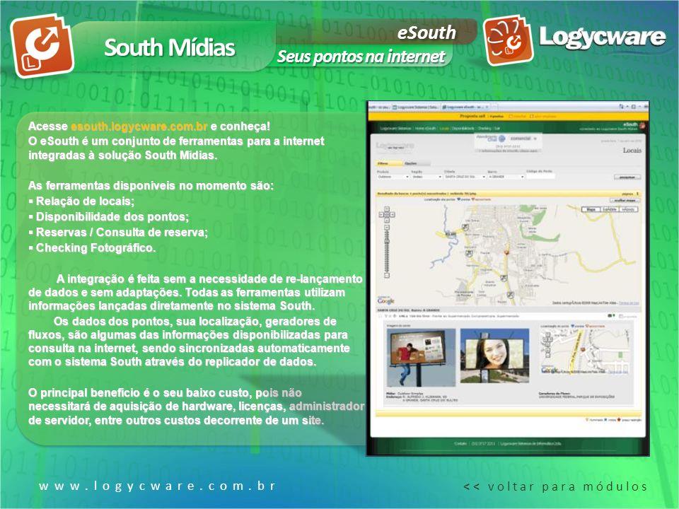 South Mídias eSouth Seus pontos na internet www.logycware.com.br