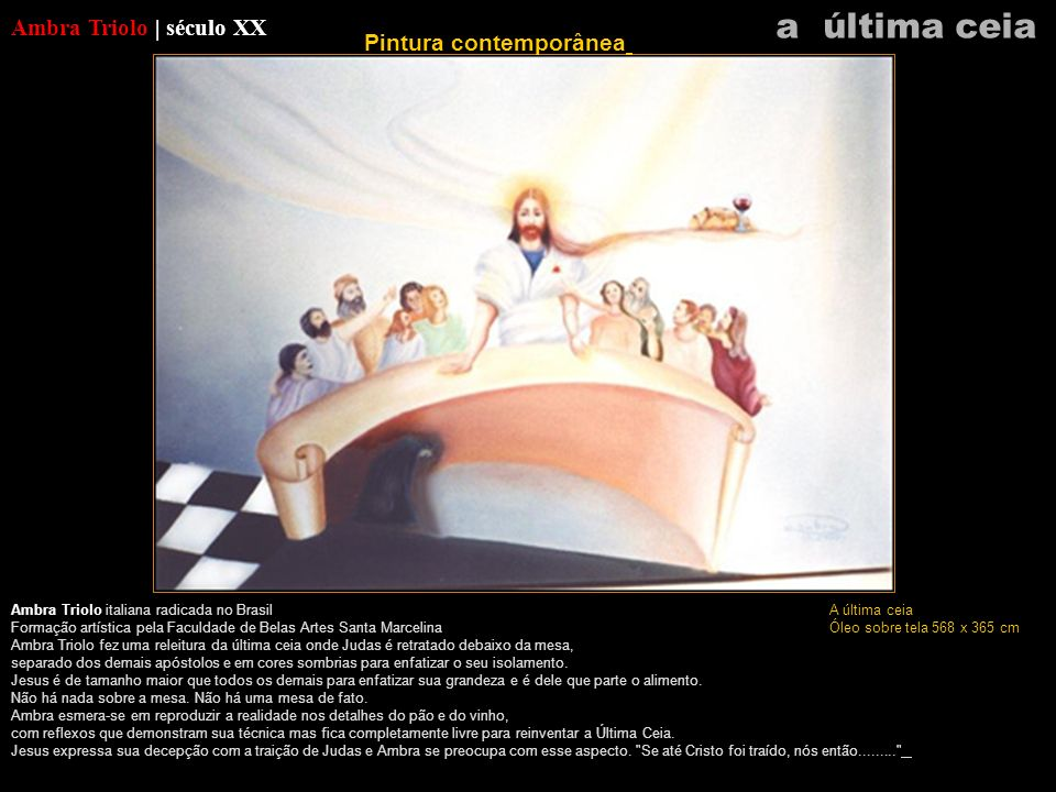 a última ceia Ambra Triolo | século XX Pintura contemporânea