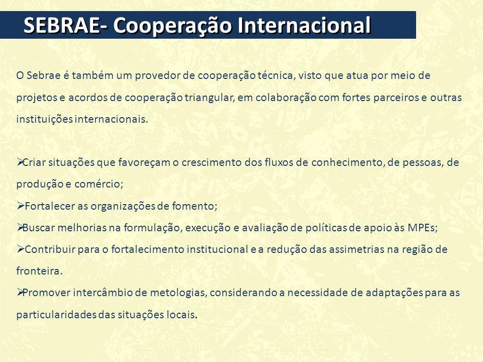 SEBRAE- Cooperação Internacional
