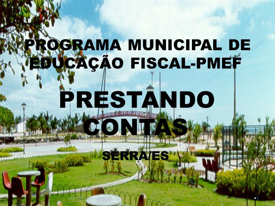 PROGRAMA MUNICIPAL DE EDUCAÇÃO FISCAL-PMEF
