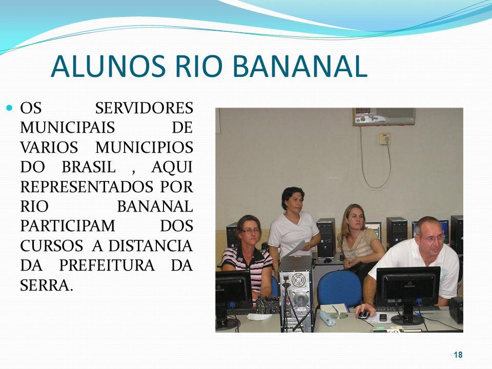 ALUNOS RIO BANANAL