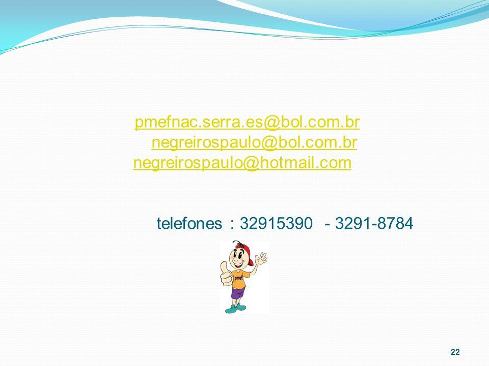 pmefnac. serra. es@bol. com. br negreirospaulo@bol. com