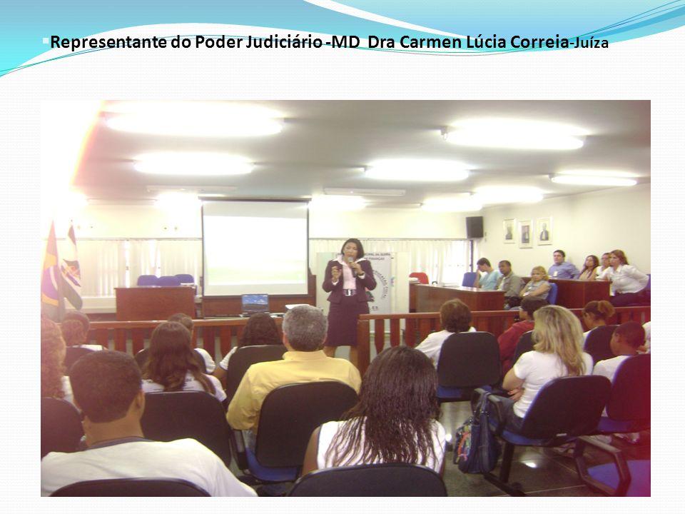 Representante do Poder Judiciário -MD Dra Carmen Lúcia Correia-Juíza