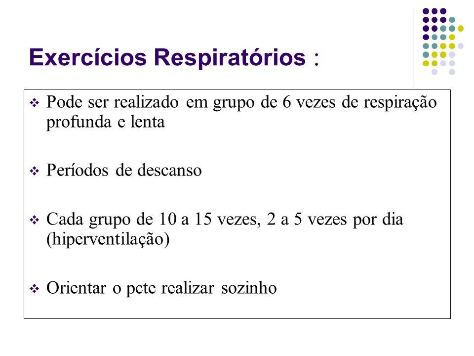 Exercícios Respiratórios :