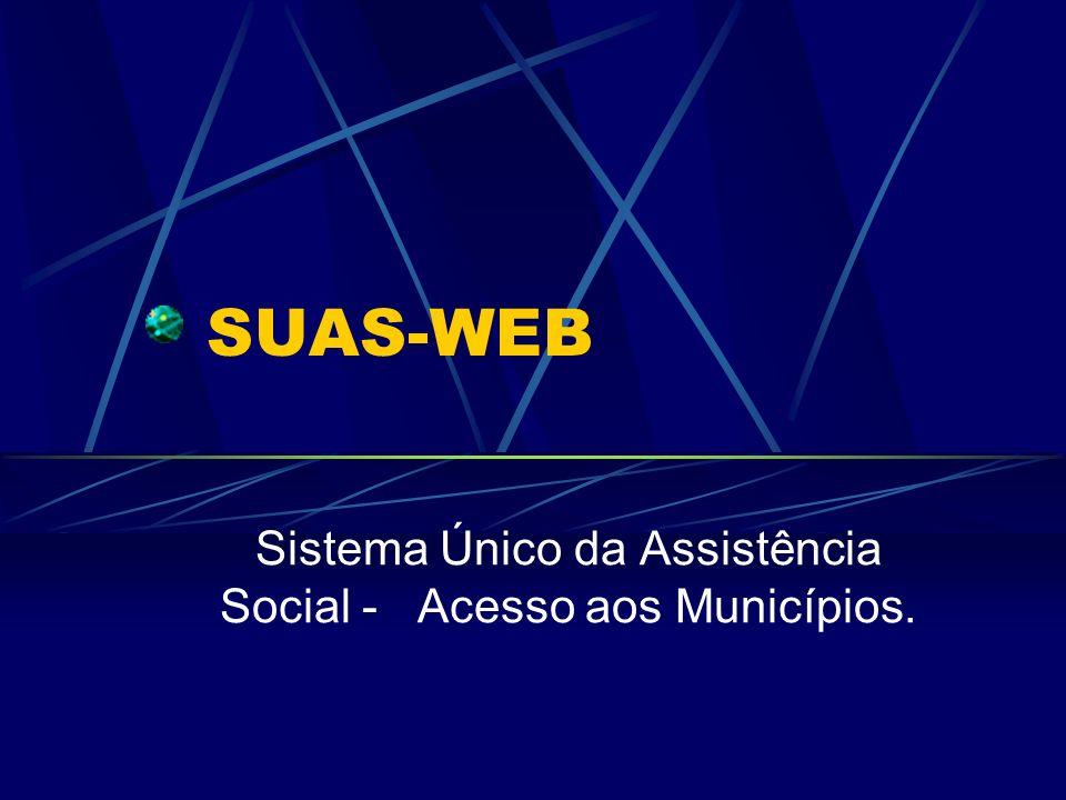 Sistema Único da Assistência Social - Acesso aos Municípios.