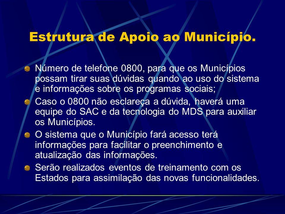 Estrutura de Apoio ao Município.