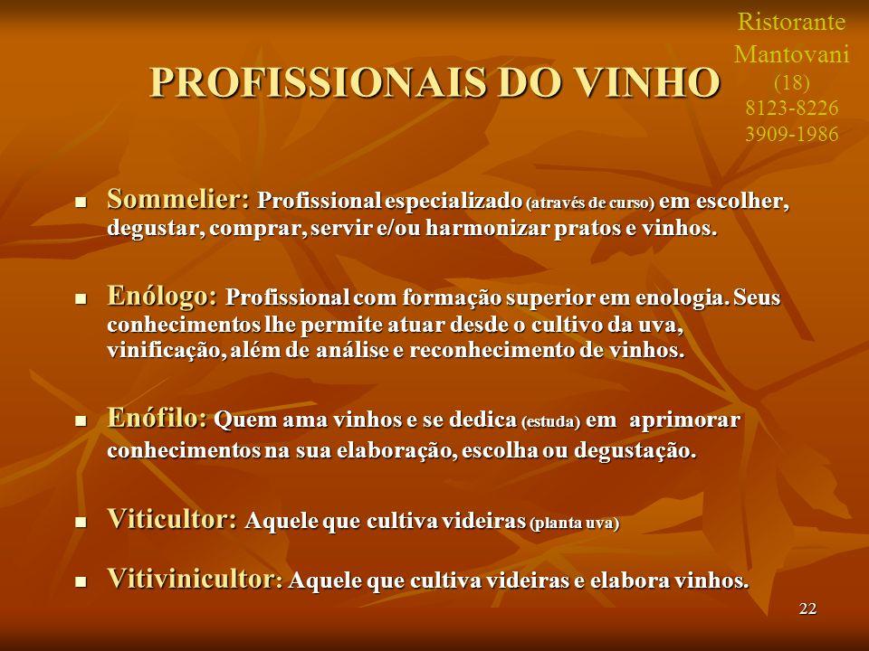 PROFISSIONAIS DO VINHO