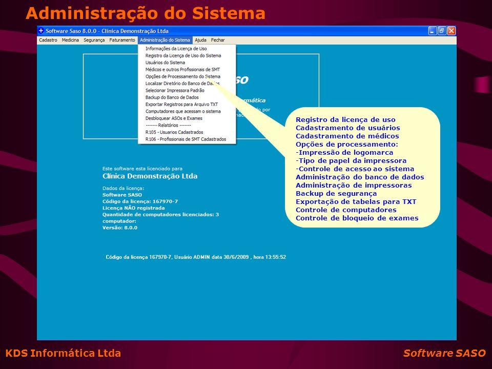 Administração do Sistema