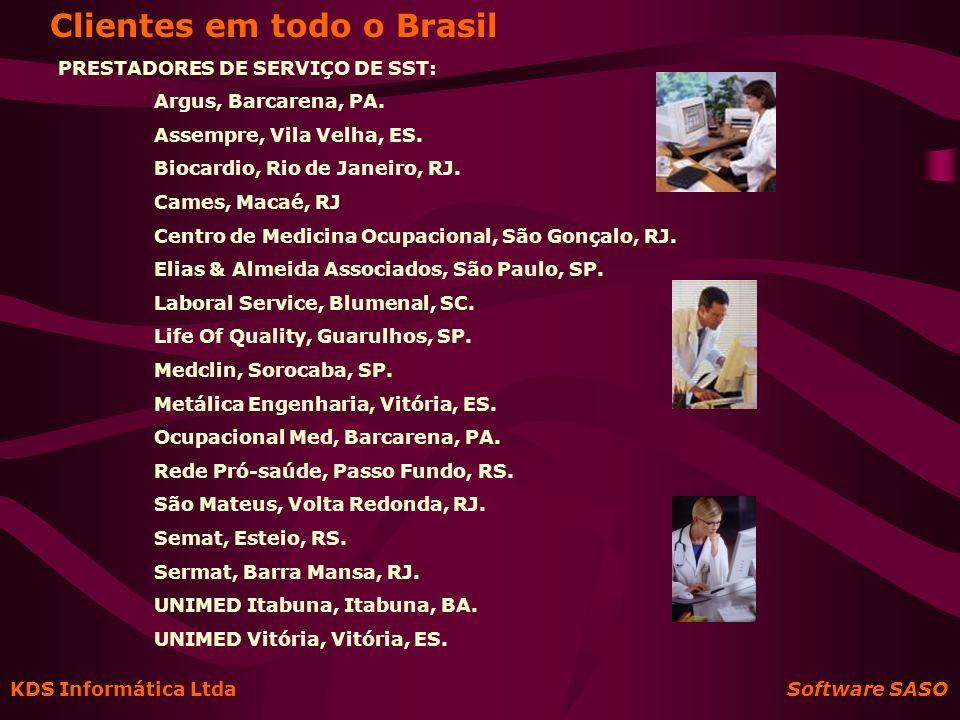Clientes em todo o Brasil