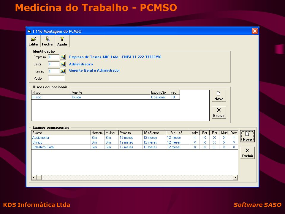 Medicina do Trabalho - PCMSO