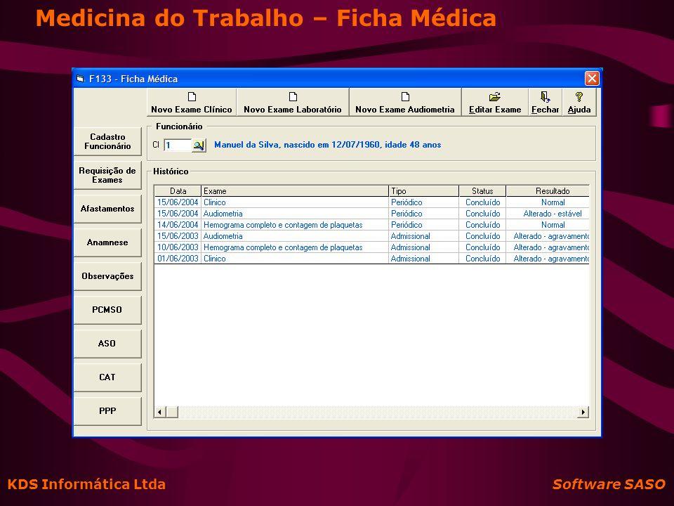 Medicina do Trabalho – Ficha Médica