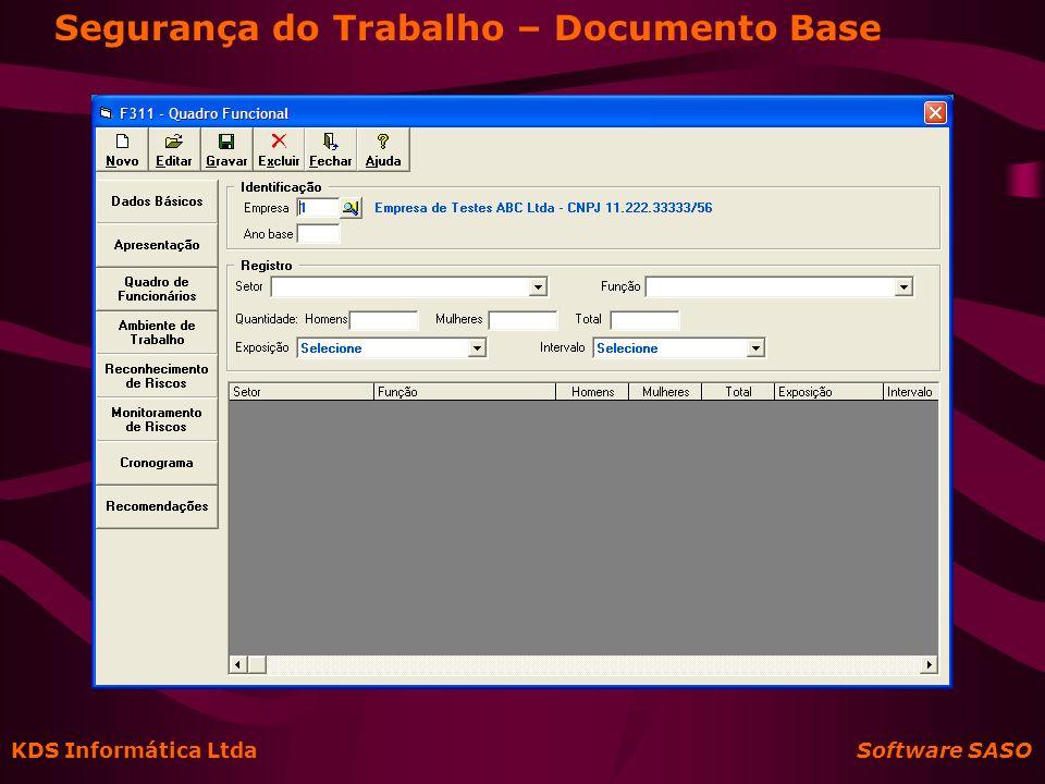 Segurança do Trabalho – Documento Base