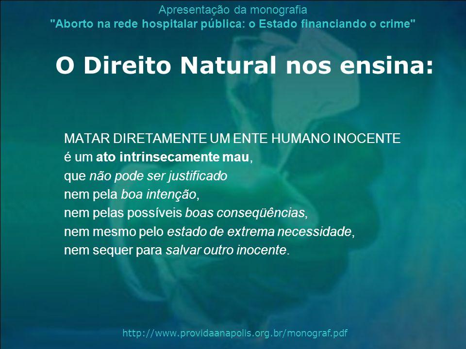 O Direito Natural nos ensina: