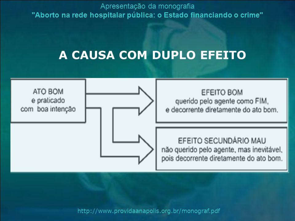A CAUSA COM DUPLO EFEITO