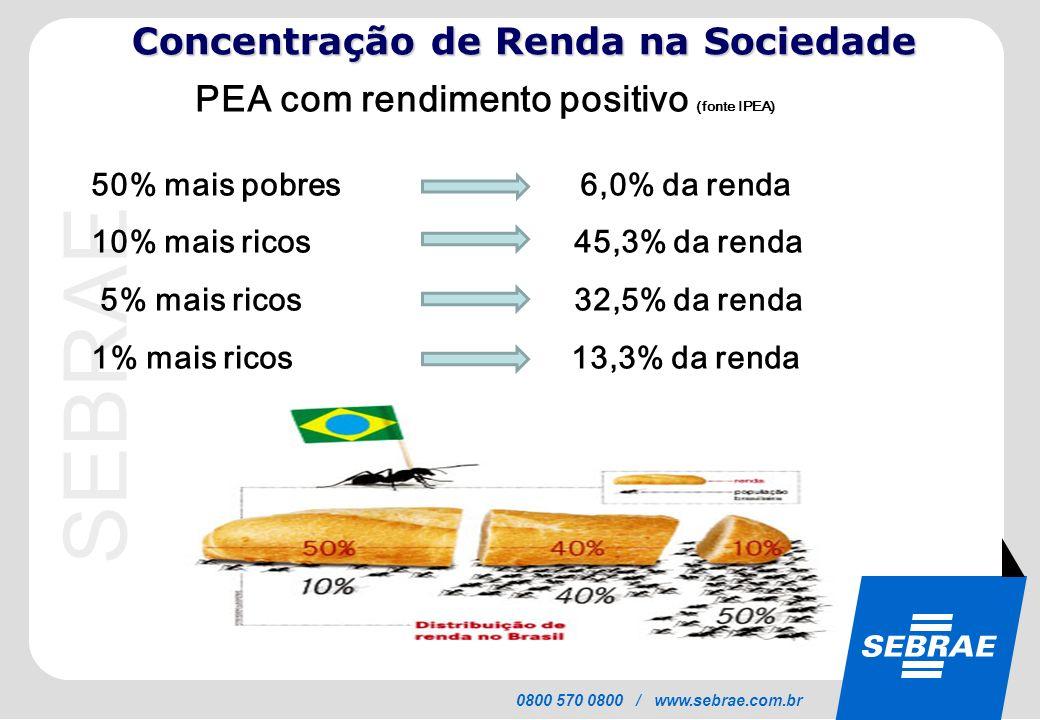 Concentração de Renda na Sociedade