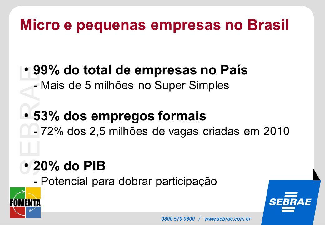Micro e pequenas empresas no Brasil