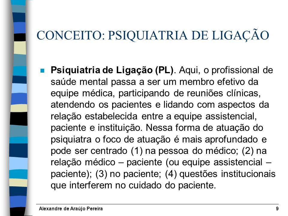 CONCEITO: PSIQUIATRIA DE LIGAÇÃO