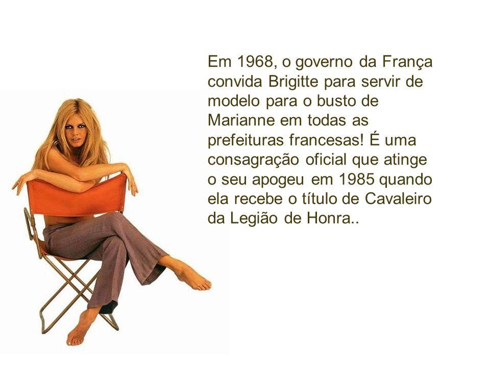Em 1968, o governo da França convida Brigitte para servir de modelo para o busto de Marianne em todas as prefeituras francesas.