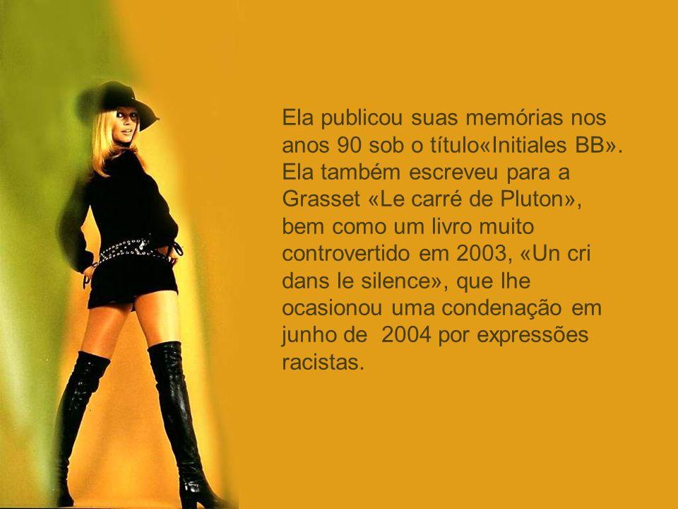 Ela publicou suas memórias nos anos 90 sob o título«Initiales BB»