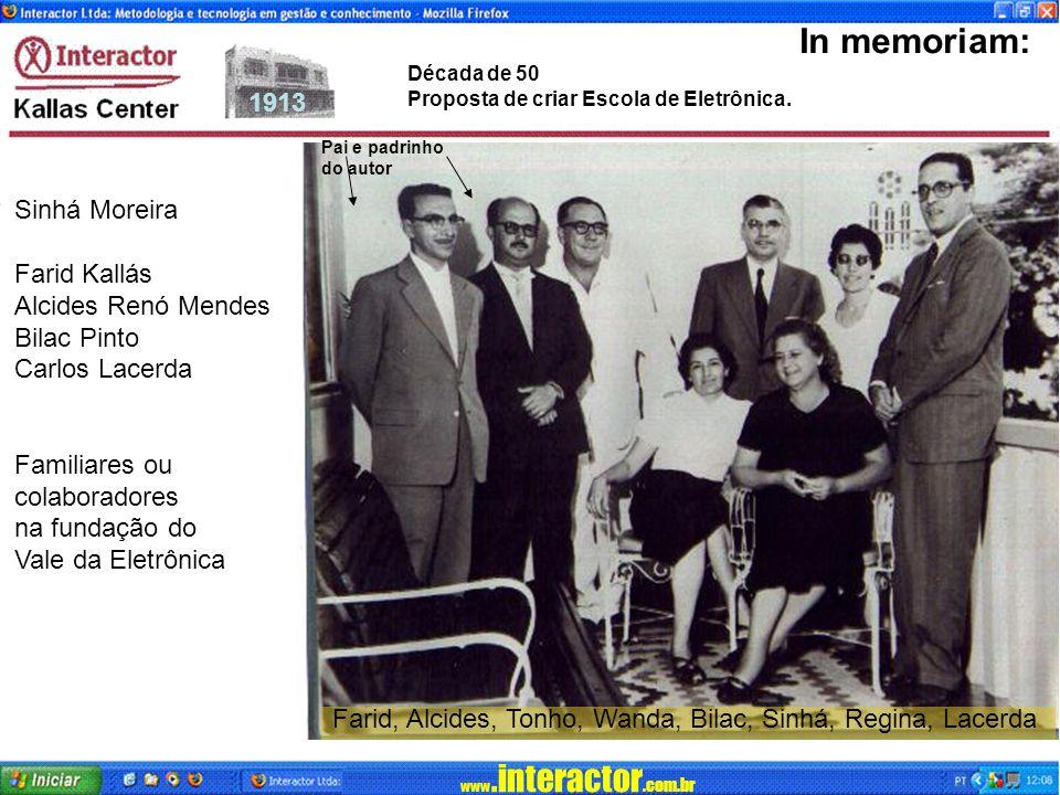 In memoriam: Sinhá Moreira Carlos Froes Farid Kallás Adauri Fonseca