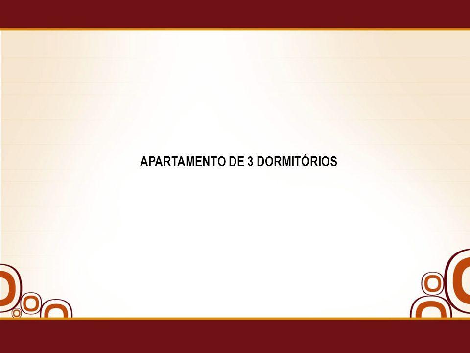 APARTAMENTO DE 3 DORMITÓRIOS