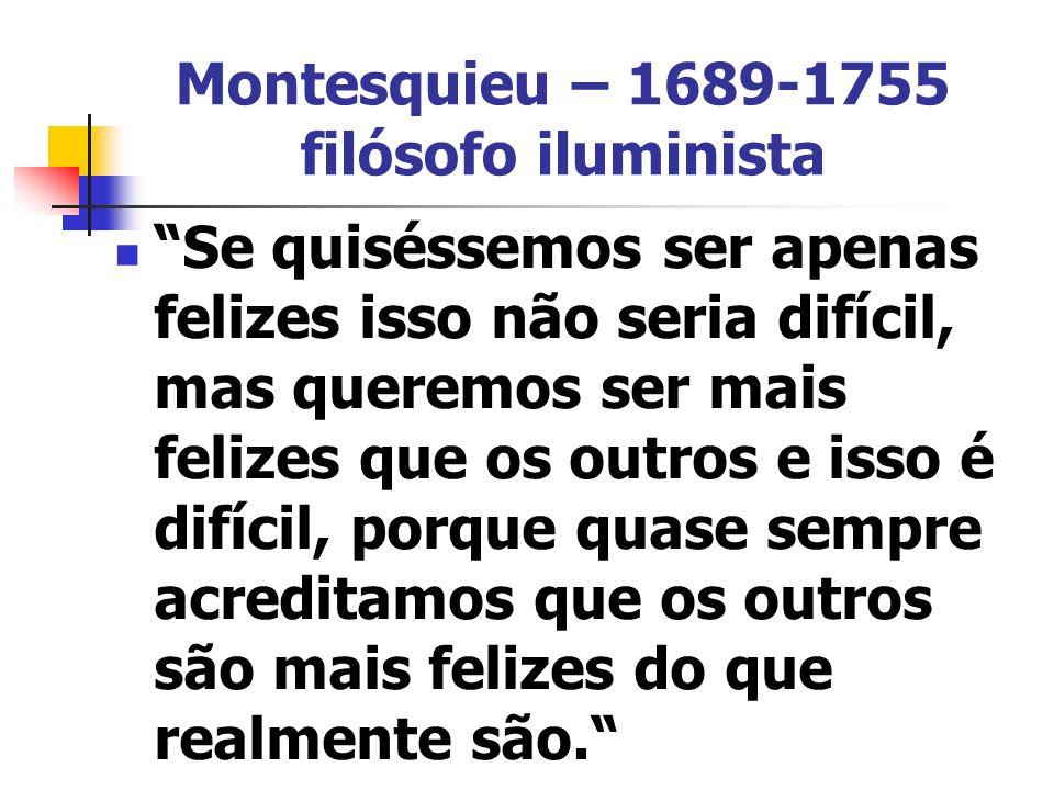 Montesquieu – 1689-1755 filósofo iluminista