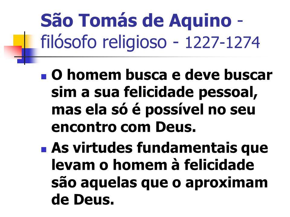 São Tomás de Aquino - filósofo religioso - 1227-1274