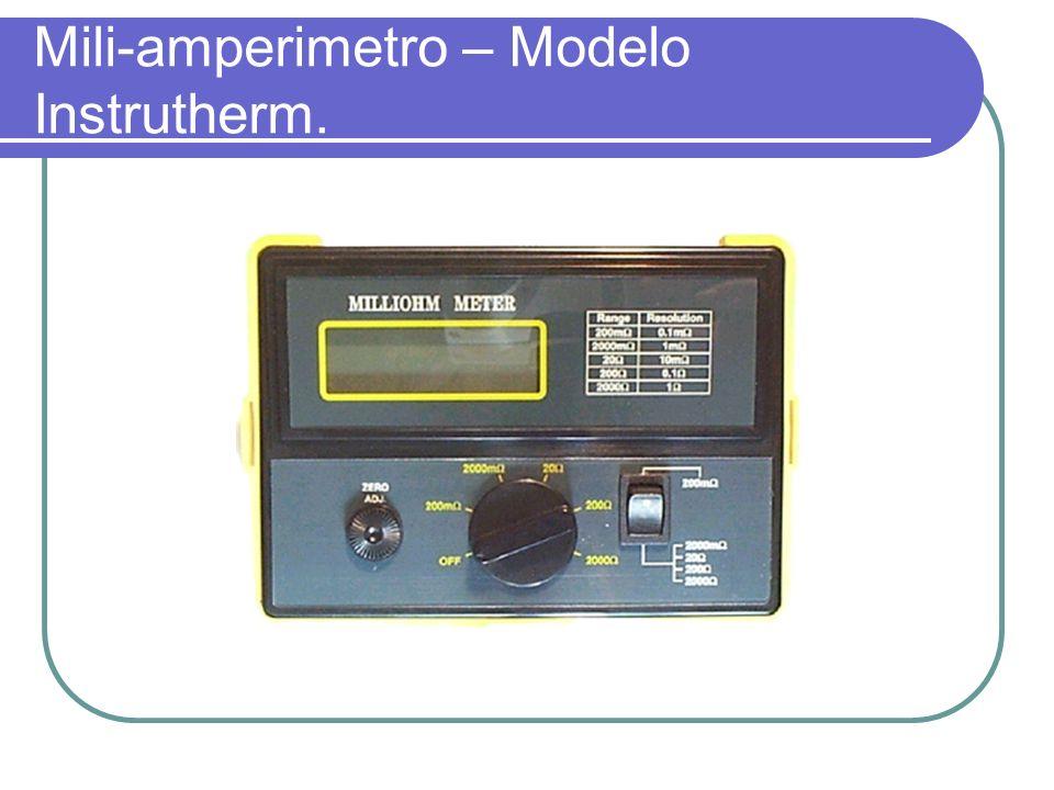 Mili-amperimetro – Modelo Instrutherm.