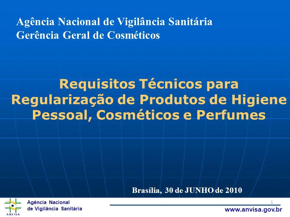 Requisitos Técnicos para Regularização de Produtos de Higiene