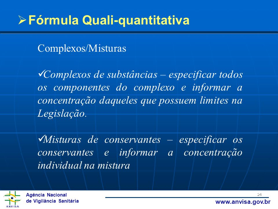 Fórmula Quali-quantitativa