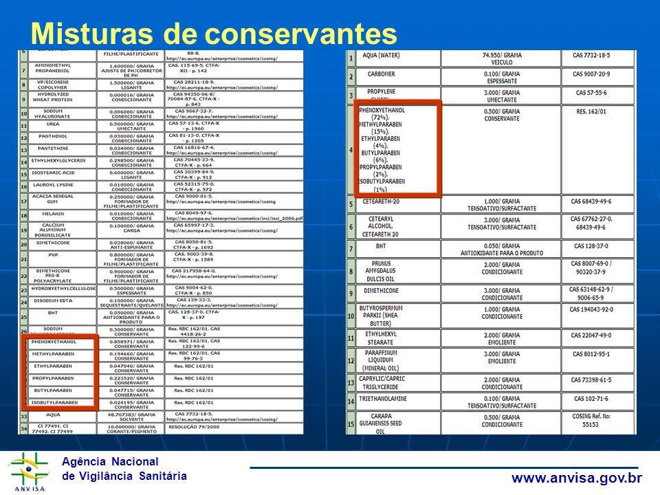 Misturas de conservantes